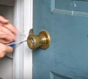 Bypass Spring Loaded Lock With Screwdriver