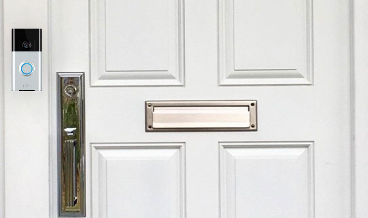 Ring Doorbell on Door